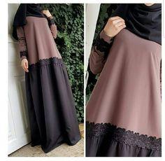 No photo description available. Moslem Fashion, Niqab Fashion, Modest Fashion, Fashion Outfits, Abaya Designs, Couture, Modele Hijab, Abaya Mode, Muslim Dress
