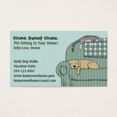 258 best pet care business cards images on pinterest business cute dog and cat pet sitting animal services business card colourmoves