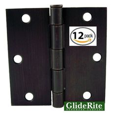 Incroyable Pack Of 12 Oil Rubbed Bronze Door Hinges Square Corners   Hardware Ray Bans  Friends