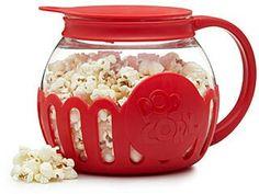 Microwave popcorn popper - how brilliant! Creative popcorn bowl. Tea pot style popcorn #kitchen #ad #popcorn #movienight