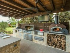 Dream outdoor kitchen/outdoor oven.