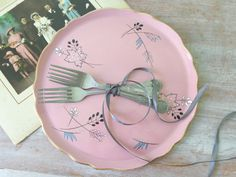 SALE.....Old Foley Cake Platter in Dusky Pink by thefoxandthespoon
