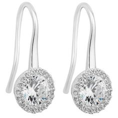 Jon Richard Clara silver cubic zirconia sleek drop earring- | Debenhams