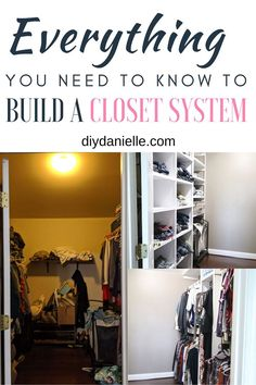 How to build a DIY Closet System with plywood. Everything you need to know including how to design your walk-in closet, spacing for shelves and rods, and more!  #closets #renovation #plywood Diy Closet Shelves, Diy Closet System, Closet Built Ins, Tiny Closet, Build A Closet, Small Closets, Closet Space, Closet Ideas, Plywood Shelves