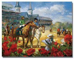 Free Kentucky Derby Clip Art | 2004 Kentucky Derby Poster Kentucky Derby Art - Art Prints - By Art of ...