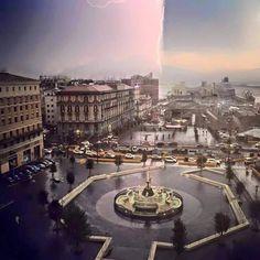 Napoli: la tempesta di pioggia racchiusa in una foto