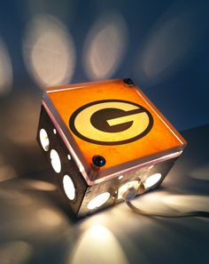 LOVE.  Green Bay Packers Lamp