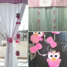 Pingente de cortina coruja baby