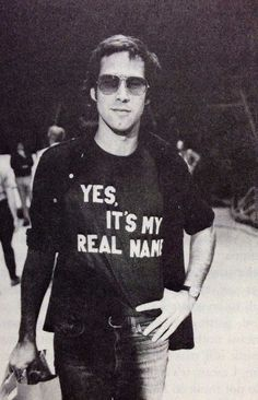 Chevy Chase wearing the t-shirt I've needed all my life.