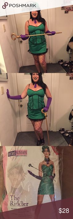 The Riddler Halloween costume. Comes exactly as shown minus the staff.  Sexy but still covers in all the right places. Only worn once and collected dust since. secret wishes Other