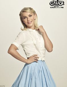 Innocent Sandy: The Dancing With The Stars judge will transform into the sweeter version of Sandy as well, in her good girl poodle skirt and blouse with her blonde hair neatly brushed in the 1950s-set high school musical