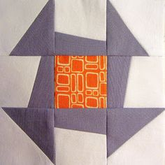 42 Quilts: Modern Monday - Block 4 Churn Dash - love the Modern Monday and Traditional Tuesday blocks