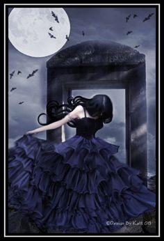 Fabulouly Dark by DesignbyKatt on DeviantArt Pretty Pictures, Art Pictures, Tribal Warrior, Gothic Cathedral, Gothic Vampire, Gothic Makeup, Moon Goddess, Gothic Art, Dark Night