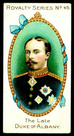 1902. Gallaher's Cigarettes. Royalty Series. No. 45: The Late Duke of Albany.