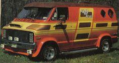 """Night Fever"" customized Dodge show van"