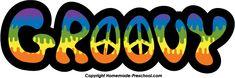 """Groovy"" Clipart Hippie Jargon/Slang #HippieFont"