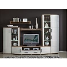 Storage wall Altona parts) - TV Unit Modern Tv Unit Designs, Modern Tv Units, Living Room Furniture, Living Room Decor, Living Rooms, Home Bar Cabinet, Classy Living Room, Console Storage, Interior Design