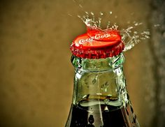 We used to split a bottle of coke and we thought it was wonderful,  ex lg. drinks had not even been thought of!