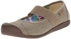 KEEN Women's Sienna MJ Canvas Mary Jane, Brindle, M US Simple Mary Jane featuring protected toe and elasticized topline Strappy Flats, Slingback Flats, Pumps, Studded Heels, Vegan Shoes, Wedge Shoes, Flat Shoes, Shoes Sandals, Shoes Sneakers