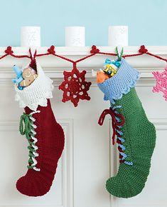 Ravelry: Santas Boots pattern by Regina Rioux Gonzalez