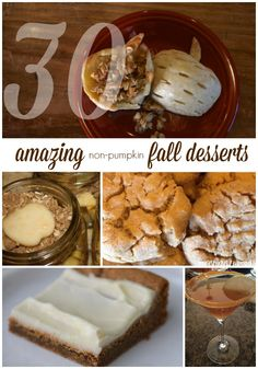 30 Fall Desserts (that aren't pumpkin!)