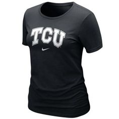 Nike TCU Horned Frogs Ladies Arch Crew T-Shirt - Black