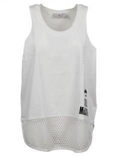 ADIDAS BY STELLA MCCARTNEY Adidas By Stella Mccartney Mesh Hem Tank Top. #adidasbystellamccartney #cloth #topwear