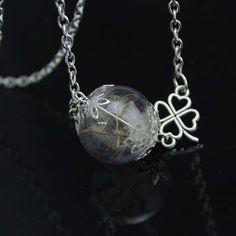2016 year autumn snow folk style new creative alloy glass jewelry necklace Necklace Korean dandelion