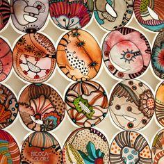 bicocacolors Watercolor And Ink, Watercolor Paintings, Watercolours, Dot Symbol, Line Doodles, Doodle Paint, 8th Grade Art, Meditation Art, Organic Art