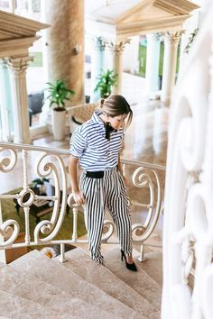 A Blogger-Approved Way to Wear Stripes On Stripes