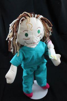 Custom created Raggedy-Anne/Andy style doll by OceannaInWonderland