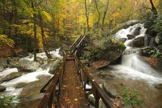 South Mountains State Park NC is on the way to Linville. It doesn't change our time to get to Linville by going there. It's a 1 mile hike to High Shoals Waterfall.