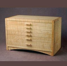 Curly Maple Jewelry Chest by westcreekstudio on Etsy, $1950.00