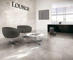 Kakelnyheter! Snyggt #kakel i en lounge. Lhådös kakel Lounge Lux Quartz 29,5x59 cm | Stonefactory.se
