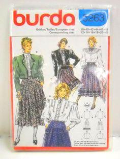 Burda Pattern 5263 Vintage 80's Womens Drindl by StitchKnit, $6.00