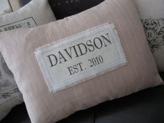 Custom Established Wedding, Anniversary, Housewarming Date Pillow