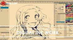 """Digital Ink Work - Drawing Manga Art """"Smile"""" 2017.07.18"""