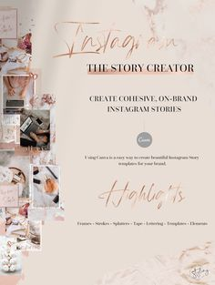 With a little bit of creativity, you can create Instagram Stories that help you get more followers and keep them coming back for more!  The Story creator packed with Frames - Strokes - Splatters - Tape - Lettering - Templates - Elements - Bonus is perfect for creative entrepreneurs, fashion bloggers, beauty bloggers, lifestyle bloggers, Creative bloggers, fashion companies, and other small businesses.
