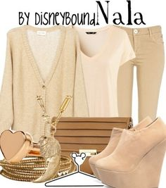 Disney Bound -- Outfits inspired by Disney characters. Love this Nala one since Lion King is my fave movie :) well one of my faves Disney Character Outfits, Disney Themed Outfits, Disney Inspired Fashion, Character Inspired Outfits, Disney Bound Outfits, Disney Fashion, Disney Characters, Beautiful Outfits, Cool Outfits