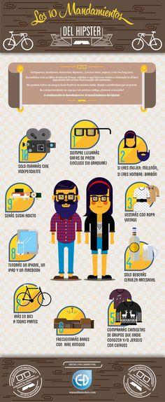 Los 10 mandamientos del Hipster #infografia