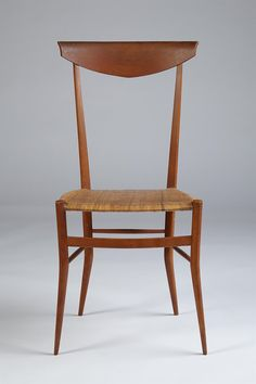 Colombo Sanguinetti; Pear Wood and Cane 'Chiavari' Chair, 1950s.