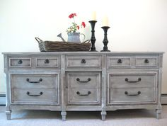 Annie Sloan French Linen painted dresser.