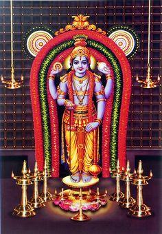 Lord Vishnu (Reprint on Paper - Unframed))