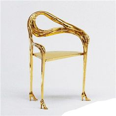 SALVADOR DALI    Leda Armchair - Original Polished Brass