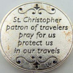 saint christopher prayer | Details about Saint St Christopher W Jesus Catholic Devotion Prayer ...