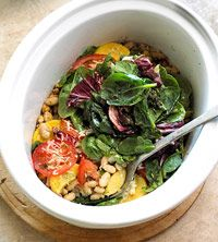Slow Cooker: Vegetable Casserole  Lose the cheese = vegan