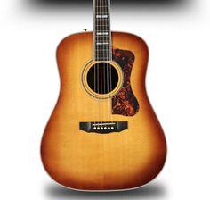 Classy // Guild D-55 Acoustic Guitar Guild Guitars, Acoustic Guitar, Music Instruments, Classy, Chic, Musical Instruments, Acoustic Guitars