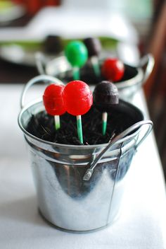 """have kids plant """"magic"""" jelly beans the night before easter, and they will grow into lollipops by morning!!"""