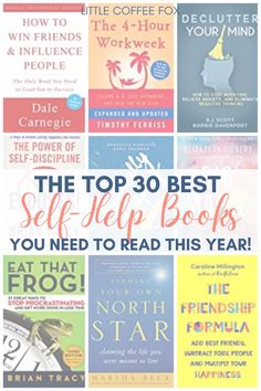 Get ready to level up this year by diving into some of the best self-help books that will help you make big changes in your life. Self-help books can help guide you as you seek to make changes to your day-to-day life while giving you the freedom to make those changes at your own pace. If you are ready to start making changes, here are 30 of the best self-help books that you need to read! #selfhelpbooks #selfcare #bestselfhelpbooks #selfhelp #bookstoread #bestselfhelpbooks2021 #2021 Timothy Ferriss, Best Self Help Books, How To Influence People, Time Management Tips, Good Habits, Printable Planner, Work On Yourself, Books To Read, Goals