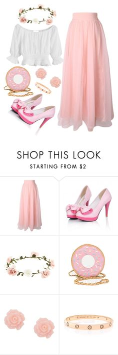 """""""pink style"""" by beautifulhalo ❤ liked on Polyvore featuring Accessorize and Cartier"""